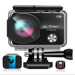 VanTop 4K WiFi Action Camera 16MP 170° Ultra Wide Angle +ba