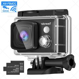 4K WiFi Touchscreen Action Camera 20MP Underwater Sports Cam