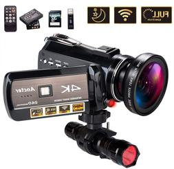 4K Wifi Full Spectrum Camcorders, Ultra HD Infrared Night Vi