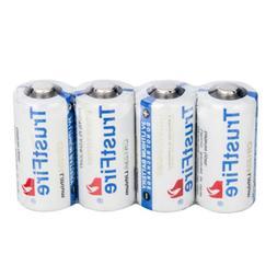 4Pcs TrustFire 123A CR123A 1400mAh 3 Volt Lithium LED Flashl