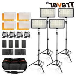 4pcs/Kit TL-240 LED Video Light Studio Photography Camera Ph
