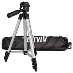 """50"""" Vivitar VIV-VPT-1250 Aluminum Camera Tripod w/Bubble Lev"""