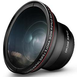 58MM 0.43x Altura Photo Professional HD Wide Angle Lens w/ M