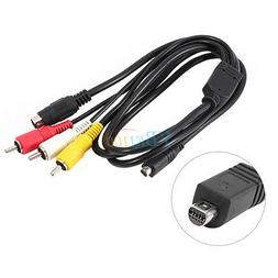 5ft AV A/V TV Audio Video Cable Lead Cord For Sony Camcorder