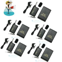 5PCS Wireless Lapel Clip-On Microphone Transmitter and Recei
