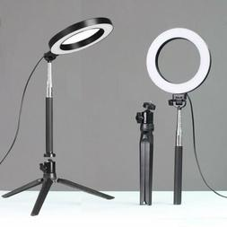 """6"""" LED Ring Light with Stand 5500K Dimmable Lighting Kit for"""