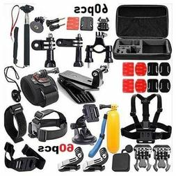 60 In 1 Action Camera Accessories Kit For GoPro Hero Video C