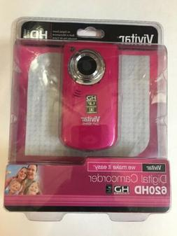 VIVITAR 620HD PINK DIGITAL CAMCORDER / CAMERA WITH 2VIEWSCRE