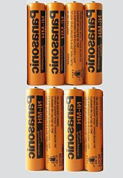 8 Pack Panasonic NiMH AAA Rechargeable Battery for Cordless