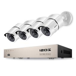 ZOSI 8CH 1080p DVR Security System Outdoor 2MP Day Night Sur