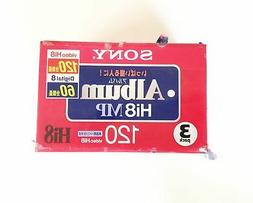 8mm 120 minutes cassette tape 3 pack