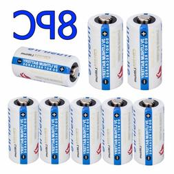8x TrustFire 123A CR123A 1400mAh Lithium 3 Volt Camera Flash