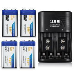 EBL 9V NI-MH Rechargeable Batteries w/ AA AAA 6F22 9Volt Cha