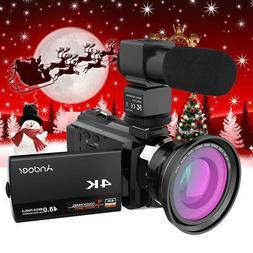 "Andoer 4K WiFi Ultra HD 1080P 48MP 16X ZOOM 3"" Digital Video"