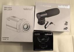 BUNDLE: Besteker HD 1080P Digital Camcorder + Wide Angle Len