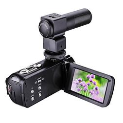 Bigaint Video Camera, HDV-301M Night Vision 1080P 16X Digita