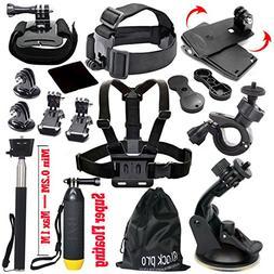 Black Pro Basic Common Outdoor Sports Kit for GoPro Hero 6/G