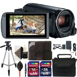Canon VIXIA HF R800 HD Camcorder  + 80GB Accessory Kit + Tri