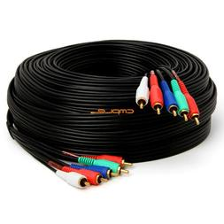 Cmple - Component Video Audio Cable 5-RCA Gold HDTV RGB YPbP