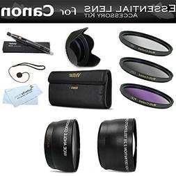 Deluxe All In Lens Kit For CANON VIXIA HF R82, HF R80, HF R8