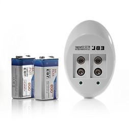 EBL 840 9V Li-ion Ni-MH Battery Charger with 600mAh Recharge