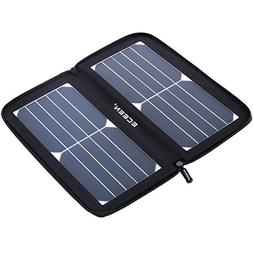 ECEEN Folding Solar Panel Phone Charger With USB Port,Zipp
