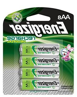 Energizer Rechargeable AA Batteries, NiMH, 2000 mAh, Pre-Cha