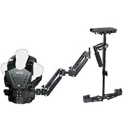 Flycam HD-3000 Stabilizer with Galaxy Dual Arm & Body Vest S