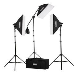 "Fovitec - 3x 20""x28"" Softbox Continuous Lighting Kit w/ 2500"