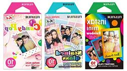 Fujifilm Instax Mini Instant Film Rainbow & Staind Glass & C