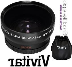 Hi-Def Wide Angle Lens With Macro For Canon Vixia HF R72 R70