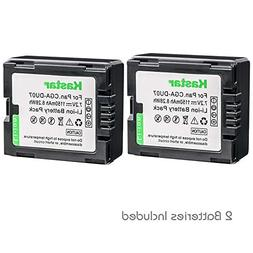 Kastar 2 Pack Battery for Panasonic CGR-DU06 CGR-DU07 CGA-DU