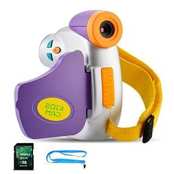 Kids Camera with Memory Card, Digital Video Camera for Kids,