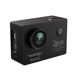 Lightdow LD6000 WiFi 1080P HD Sports Action Camera Kit - App