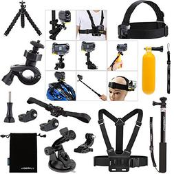Luxebell Accessories Bundle Kit for Sony Action Camera Hdr-A