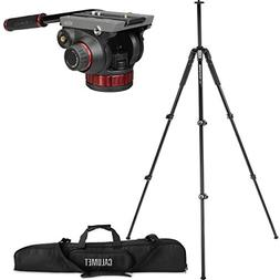 Manfrotto MT055XPRO3 3-Section Aluminium Tripod with MVH502A