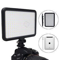"""Mcoplus 0.6""""/1.5cm Ultra Thin 204-LED 10W 5600K/3200K LED Vi"""