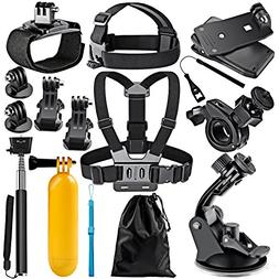 Neewer 12-In-1 Action Camera Accessory Kit for GoPro Hero Se