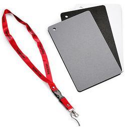 "Neewer Digital Grey Card Set - 2"" x 3"" White Balance Card 18"