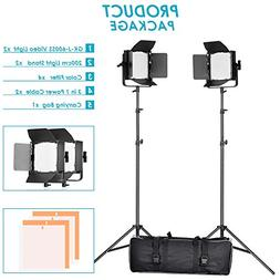 Neewer Double Dimmable Ultra High Power 600 LED Barndoor Con