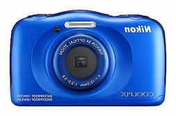 Nikon - Coolpix W100 13.2-megapixel Digital Camera - Blue