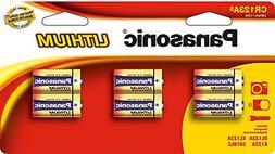 Panasonic CR-123A Lithium Camera Batteries 6 battery value p