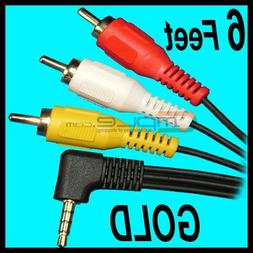 Parts Express 3.5mm Plug  To 3 RCA A/V Cable 6 feet