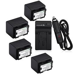 Powerextra 4 Pack Replacement Canon BP-727 Fully Decoded Bat