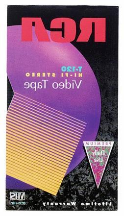 RCA T-120H VHS Video Cassette 120-Minutes