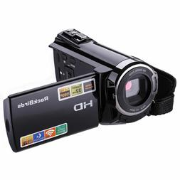 RockBirds Camcorder HDV-5052STR Digital Video Camera HDMI 19