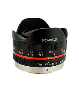 Rokinon FE75MFT-B 7.5mm F3.5 UMC Fisheye Lens for Micro Four