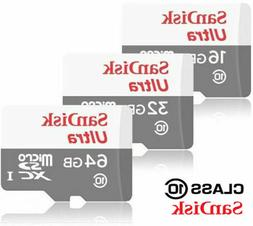 Sandisk 16GB 32GB 64GB 128GB Micro SD HC Class 10 Flash SDHC