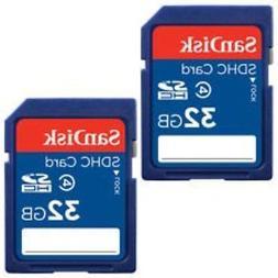 SanDisk 32GB Class 4 SDHC Flash Memory Card - 2 Pack SDSDB2L