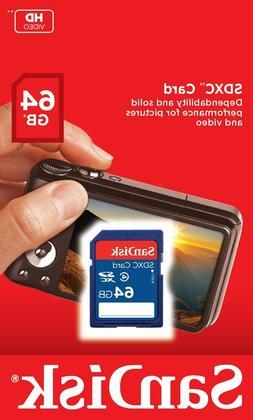 SanDisk 64GB Class 4 SDXC Flash Memory Card- SDSDB-064G-B35